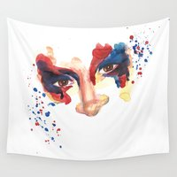 danny ivan Wall Tapestries featuring Tears of Colour - Ivan by Tears of  Colour