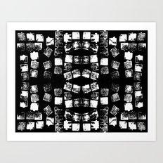 Stamp Black and White Art Print