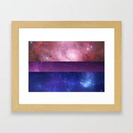 Space Bi Framed Art Print