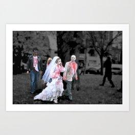vampire wedding Art Print