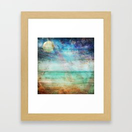 Beach Lapis Framed Art Print