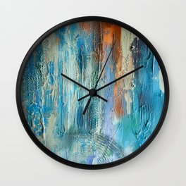 Symphony in Orange and Blue Wall Clock