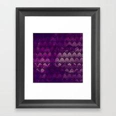 Variations on a Feather II - Purple Haze  Framed Art Print