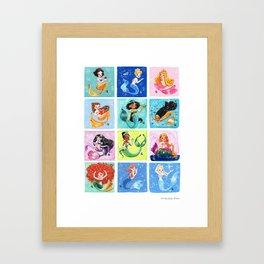 Mermaid Princesses Framed Art Print
