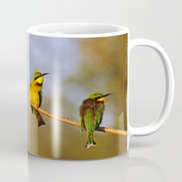 Three bee-eaters, Africa wildlife Coffee Mug