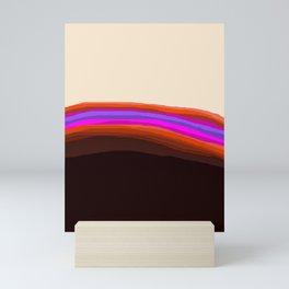 Orange, Purple, and Cream Abstract Mini Art Print