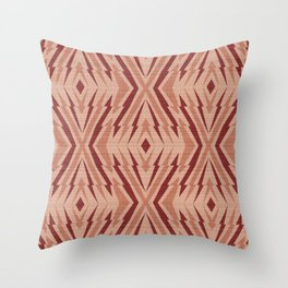 Geometric pattern. Rhombuses and lines #2  Throw Pillow