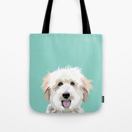 Golden Doodle pet portrait art print and dog gifts Tote Bag