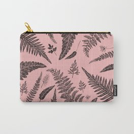 Pink Ferns Carry-All Pouch