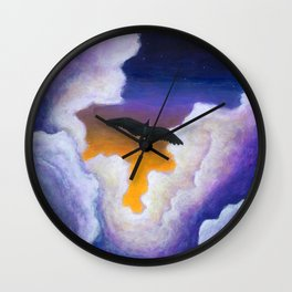 Soaring Through the Clouds -The Groundbird Wall Clock