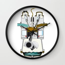 Exhaust Stroke Wall Clock