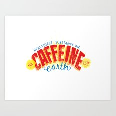 Caffeine Print Art Print