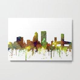 Jacksonville, Florida Skyline SG - Safari Buff Metal Print