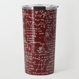 Physics Equations // Burgundy Travel Mug