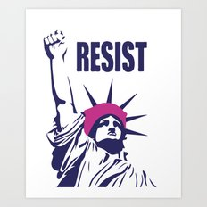 Resist Trump Art Print
