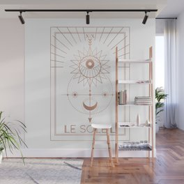 Le Soleil or The Sun Tarot White Edition Wall Mural