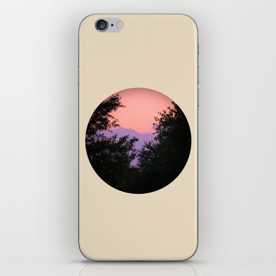 Clouds As Mountains Circular iPhone & iPod Skin