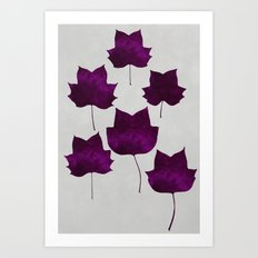 Mapleleaf Purple Art Print