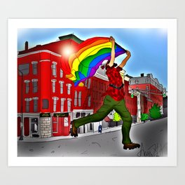 """Paul Bunyan PRIDE"" Art Print"