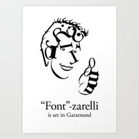 font Art Prints featuring 'Font'-zarelli by Christian Bailey
