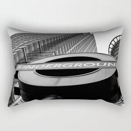 Canary Wharf  Underground Rectangular Pillow