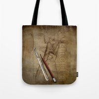 anatomy Tote Bags featuring Anatomy by ArtAngelo