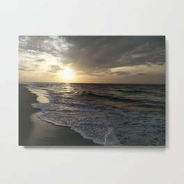 Sunrise at Dhanushkodi, India Metal Print