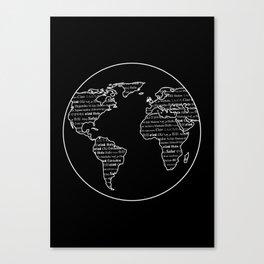 Hello Multi-linguistic World Canvas Print