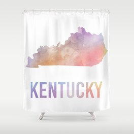 Watercolor State - KY Shower Curtain