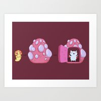catbug Art Prints featuring The Evolution of Catbug by DangerousDagger