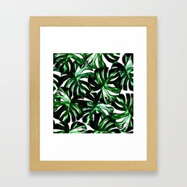 Monstera Jungle Leaf Framed Art Print