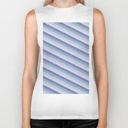 Pastel Diagonal Stripe Pattern Biker Tank