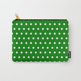 Small dots on green Carry-All Pouch