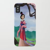 mulan iPhone & iPod Cases featuring Mulan by Rousetta