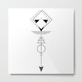 Optical Illusions Metal Print