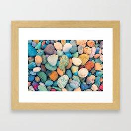 Happy Stones Framed Art Print