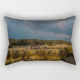 la mine france aerial drone shot cliff people sunset clouds goldenhour Rectangular Pillow
