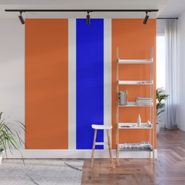 TEAM COLORS 10....ORANGE AND BLUE Wall Mural