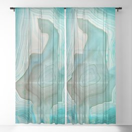 THE BEAUTY OF MINERALS 2 Sheer Curtain