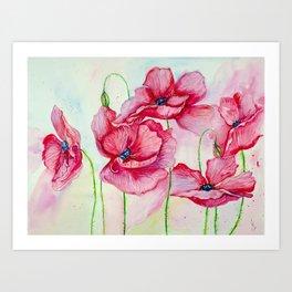 Poppies dance Art Print