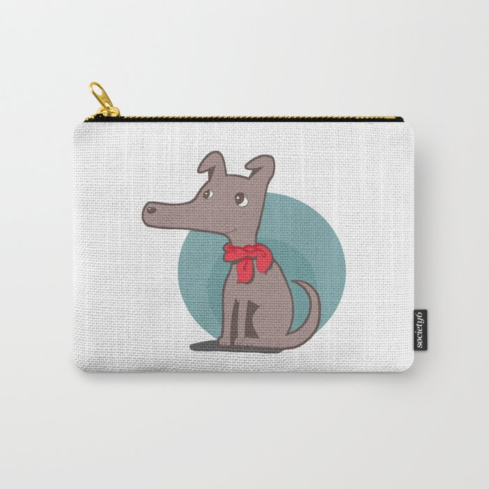 Dog with a Red Scarf Carry-All Pouch