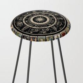 The Major Arcana & The Wheel of the Zodiac Counter Stool