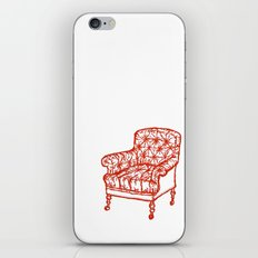 Red Chair iPhone & iPod Skin