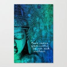 Aqua Buddha Canvas Print