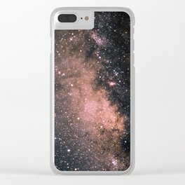 Halley's Comet and the Milky Way Clear iPhone Case