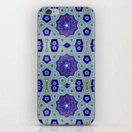 Samarkand Kaleidoscope in Blue iPhone Skin