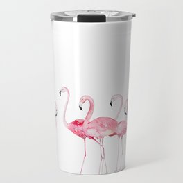 Flamingo Farm- Tropical Animal Bird World Travel Mug