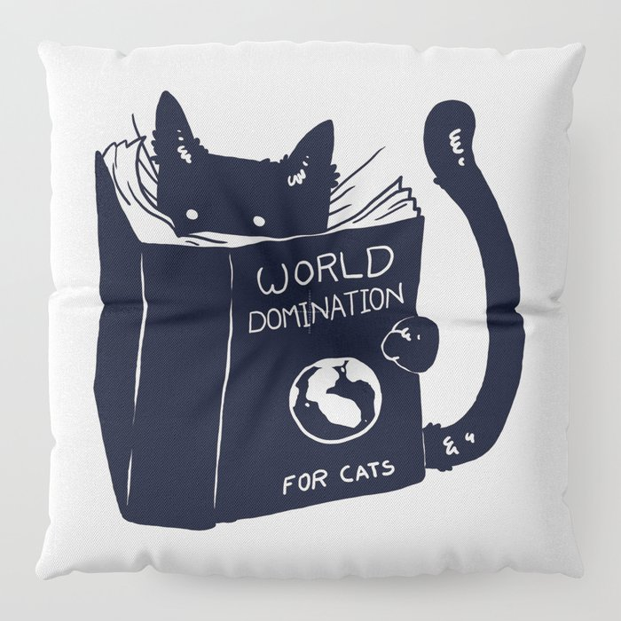 World Domination For Cats Floor Pillow