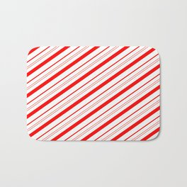 Candy Cane Stripes Bath Mat