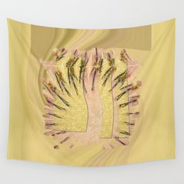 Intropression Makeup Flowers  ID:16165-134558-56051 Wall Tapestry